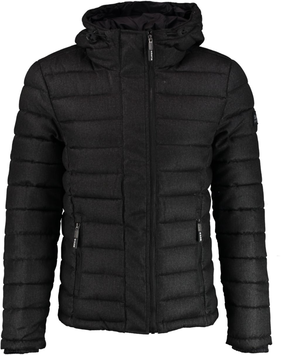 Superdry Jas HOODED DOUBLE ZIP TWEED FUJI