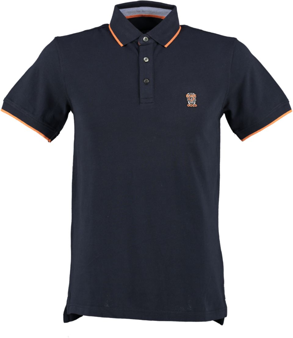Black And Gold Poloshirt POLOSTREETBASIC