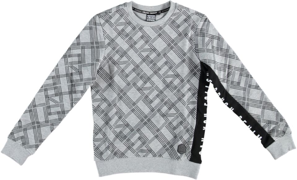 Crush Denim Sweater CREW AOP