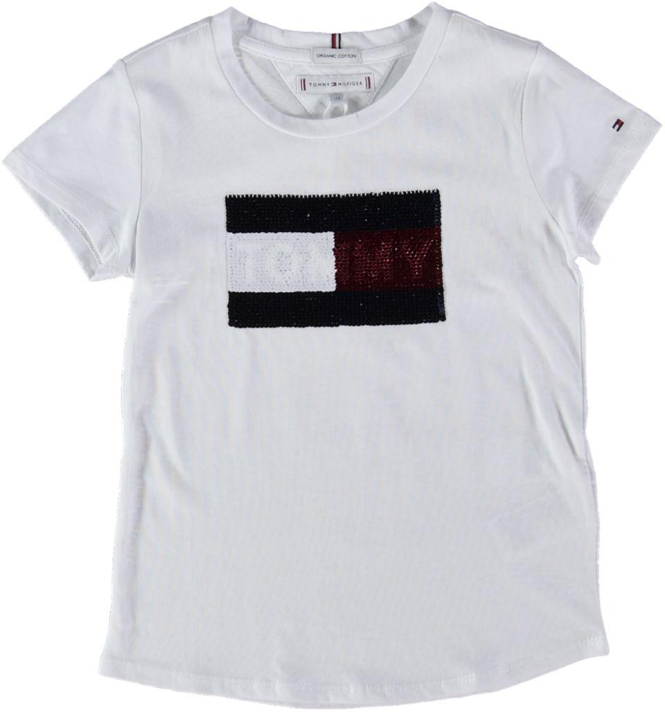 Tommy Hilfiger T-shirt FLAG FLIP SEQUINS T